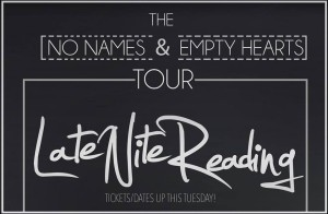late nite reading tour announcement