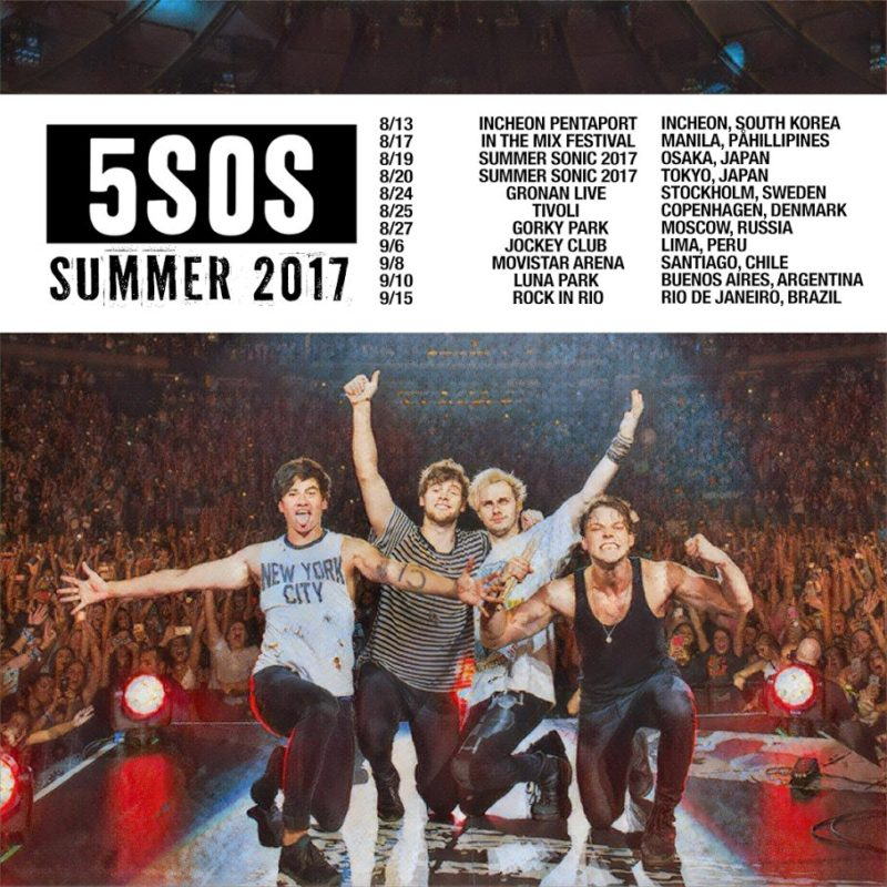 Seconds Of Summer Tour Dates