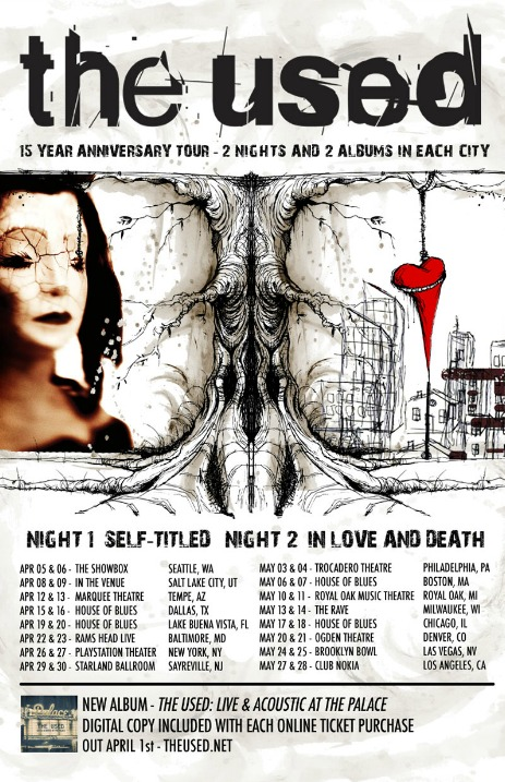 The used tour dates