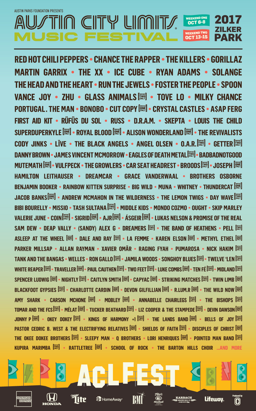 Austin City Limits drops lineup for 2017 festival — Listen ...
